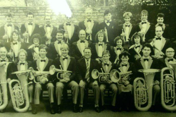 Foss Dyke Brass Band in 1988.