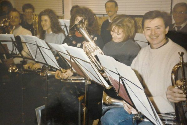 Foss Dyke Brass Band - Happy faces in 1992.